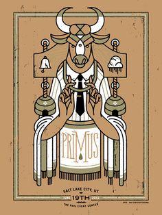 Primus Poster Series - Salt Lake City, UT by Dan Christofferson