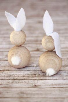 Bastelidee Ostern Holz-Osterhase