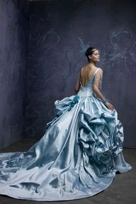 Back of the St Pucchi Blue Wedding Dress Satin Dresses, Blue Dresses, Prom Dresses, Satin Gown, Dresses 2016, Quinceanera Dresses, Long Dresses, Beautiful Gowns, Beautiful Outfits