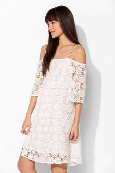 Little White Lies Paris Lace Off-The-Shoulder Dress #urbanoutfitters