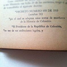 """""""Decreto número 693 de 1910"""""""