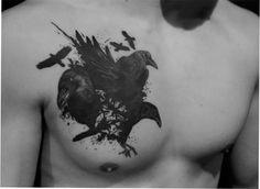 watercolor tattoo raven - Buscar con Google