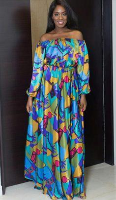 Envoyer a kady African Dresses For Kids, African Maxi Dresses, African Fashion Ankara, Latest African Fashion Dresses, African Print Fashion, African Attire, Africa Dress, Casual Dresses, Fashion Outfits