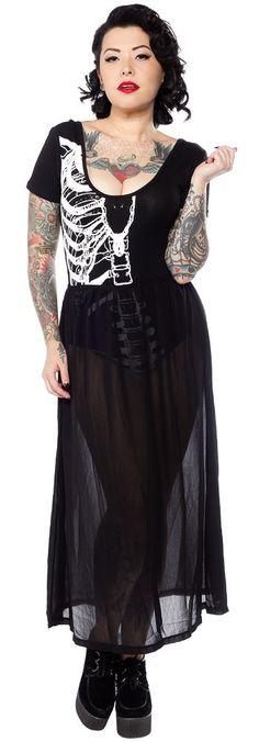 IRON FIST WISHBONE MAXI DRESS $60.00 #ironfist #dress #skeleton
