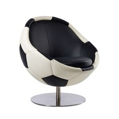 Image of Leather Soccer Ball Chair
