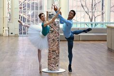 Soloist Yasmine Naghdi : Pointe Shoe Tower - showing the number of pointe shoes used by The Royal Ballet in a week © ROH/Ruairi Watson, 2014