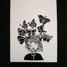 Není k dispozici žádný popis fotky. Linoprint, Linocut Prints, My Arts, Crafty, Creative, Cards, Instagram, Decor, Printmaking