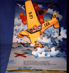 Up in the air. [JPG 120K] An All-Action Pop-up Picture Storybook. V. Kubasta, illustrator. Printed in Czechoslovakia. Prague, Artia; [England], Brown Watson, 1986.