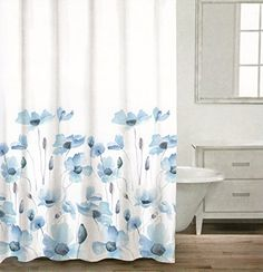 Caro Botanical Nature 100% Cotton Shower Curtain Floral Poppy Seed flower Design Gray Blue Ash Grey White 72-Inch by 72-Inch Caro Home http://www.amazon.com/dp/B01068O4RU/ref=cm_sw_r_pi_dp_acWJvb0XZAKXS