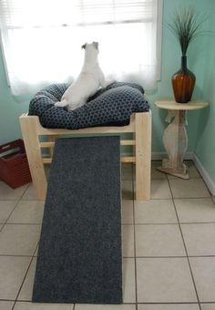 eichen holz erh ht hundebett erh hten hund bett m bel mit doggies pinterest hunde bett. Black Bedroom Furniture Sets. Home Design Ideas