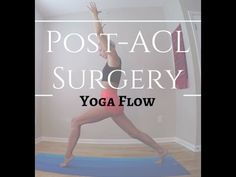 25 Minute Yoga flow for Post-ACL surgery recovery After having ACL surgery years ago, there weren't too many resources for yoga post-surgery. Acl Surgery Recovery, Acl Recovery, Acl Knee, Knee Injury, Knee Pain, Meniscus Surgery, Yoga For Knees, Acl Rehab, Knee Exercises