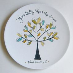 Teacher Plate from aedrieloriginals on etsy.