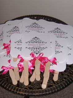 Wedding fans, probably going to need these in Hawaii (: