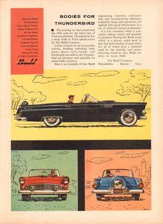 https://flic.kr/p/NEvkSK | 1956 Ford Thunderbird Budd Company Advertisement Time Magazine June 25 1956 | 1956 Ford Thunderbird Budd Company Advertisement Time Magazine June 25 1956