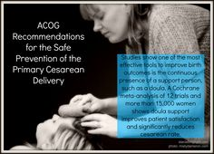 The doula's contribution to ACOG recommendations to reduce cesareans.