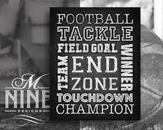 Chalk Football Sign Printables  Football Words Printable Art