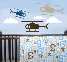Helicopter Wall Decals