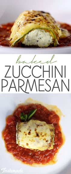 Eggplant has nothing on this warm and cheesy baked zucchini dish. A delicious vegetarian dish!