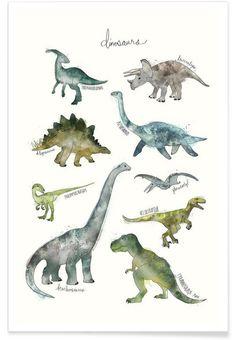 Dinosaurs als Premium Poster von Amy Hamilton | JUNIQE