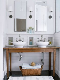 Love everything in this bathroom! Would be great for a half bath, since storage is minimal.