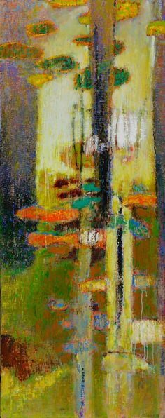 Unfolding Tendencies | oil on linen | 48 x 19"