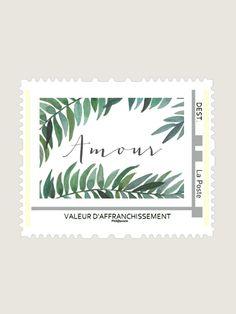 Visuel pour timbre aquarelle : Romarin Amour www.dioton.fr
