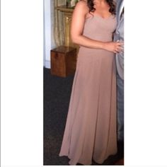 Bridesmaid Dress! Worn once and has been dry cleaned. Bill Levkoff design. Latte color dress. Hemmed for my height 5'5. Dresses