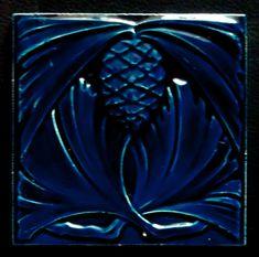 Art Nouveau Tiles, Artistic Tile, Glasgow School, Vintage Tile, Blue Tiles, Urban City, Art For Art Sake, Tile Art, Brooches