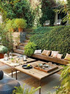 Terraço e jardim Mais