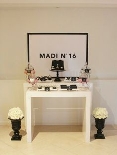Party Inspirations: Chanel Themed Sweet 16th by Sharnel Dollar Designs