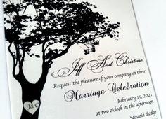 230 Acrylic wedding invitation tree wedding invitation laser cut wedding invitations calligraphy wedding invitation custom invitation