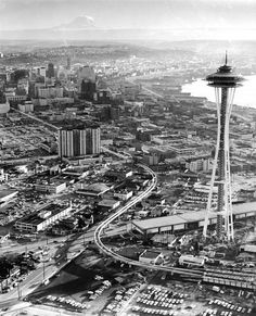 Overview of Seattle's Space Needle in April 1962