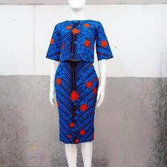 New design alert! 2 piece for us. Crop top and skirt. Walk in to pick up from any of our stores ! African Print Dresses, African Print Fashion, Africa Fashion, African Fashion Dresses, African Dress, Trendy Ankara Styles, Kente Styles, African Attire, African Wear