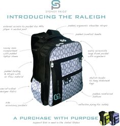 for every backpack purchased, a matching bag is donated to a student in need in the United States.
