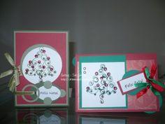 Arte em Quilling - Taís Santos: Depois do feriado... Novos cartões de Natal!!!!!!!