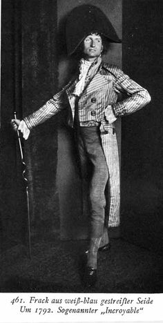 "Les Incroyables meaning ""incredible"" describing men in the 1800's who dressed extravagantly , had shaggy unkept hair"
