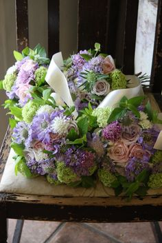 bouquets of bridesmaids