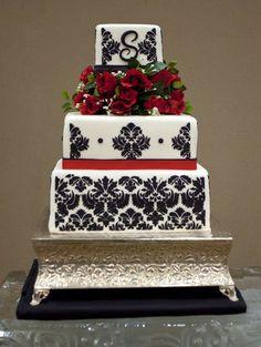 Wedding Cake Designed By Just Christmas H cakepins.com