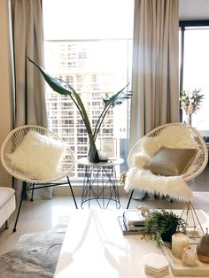 City apartment living | Acapulco chairs Created this space shopping at my favourite stores Kmart & Ikea.