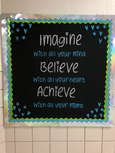 Bulletin board idea for Back to School! Office Bulletin Boards, Back To School Bulletin Boards, Classroom Bulletin Boards, Classroom Decor, Classroom Door Quotes, Bulletin Board Ideas For Teachers, Bulletin Board Borders, School Decorations, School Themes