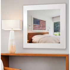 American Made Rayne Glossy White Vanity Wall Mirror (