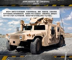 14898403-Military Vehicles Hummer H1 Scale Model Building Kits Field Forces Heavy Type Gun Weapon Equipment 3D Bricks Toys