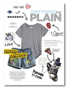 """""""All Patched Up"""" by amazing-abby ❤ liked on Polyvore featuring Des Petits Hauts, Hipstapatch, Converse, Oui and Big Bud Press"""
