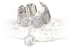 168 USD Vintage Paris Souvenir Bracelet-Silver