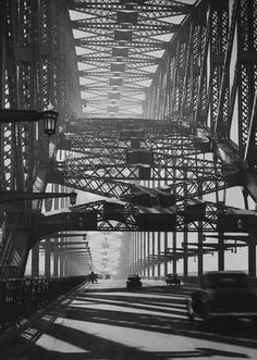 Sydney Bridge ca. 1934 Photo: Harold Cazneaux  www.liberatingdivineconsciousness.com