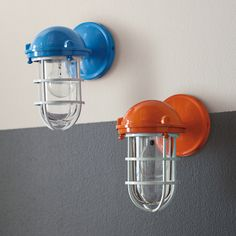 Beacon Sconce – Carrot   Serena & Lily - Maybe for the barn hallways bathrooms? also in white
