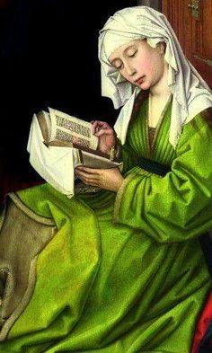 Rogier van der Weyden. La lettura di Maddalena. 1445. Galleria nazionale  Fonte: tutte cose green/bing.com/ google.com /