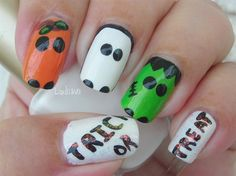 Trick or Treat - Nail Art Gallery by NAILS Magazine