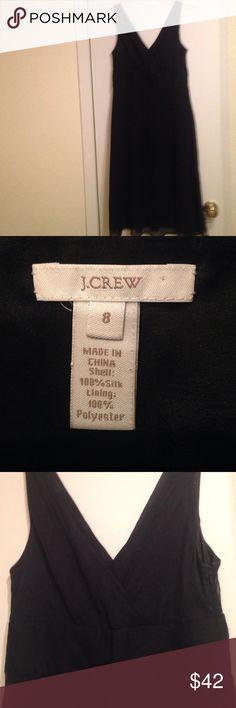 Reduced!!! Make an offer!!! Jcrew 100% silk Black Silk Chiffon dress. jcrew Dresses Wedding