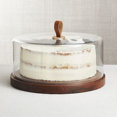 Grey. Gourmet Vintage Decoration Cake Platter with Dome Promobo